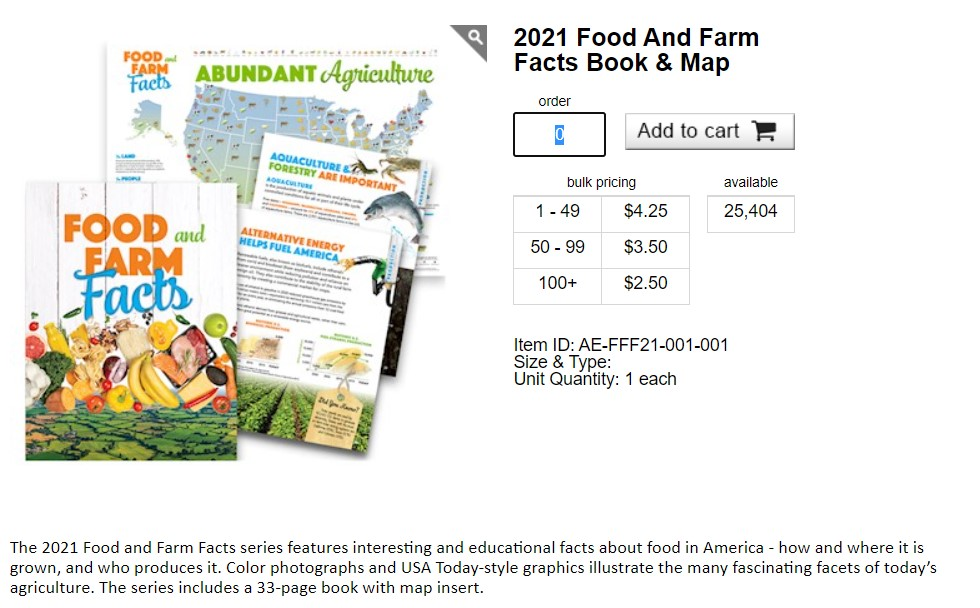 New Ag Literacy Resource: AFBF Sharing the Story of Agriculture with Food and Farm Facts